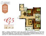 南昌恒大翡翠华庭3室2厅1卫127平方米户型图