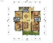 万象国际城3室2厅2卫134平方米户型图