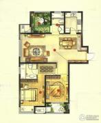 高成天鹅湖2室2厅2卫118平方米户型图