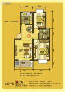 凤凰湖2室2厅1卫79--84平方米户型图