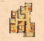 丁香花园3室2厅2卫132平方米户型图