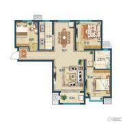 滨湖国际・观澜3室2厅1卫107--113平方米户型图