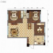 金沙星城3室2厅1卫108平方米户型图