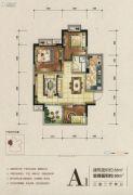 湖悦3室2厅1卫88平方米户型图