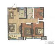 中波・褐石公园3室2厅1卫90平方米户型图