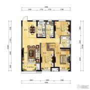 中海国际社区3室2厅2卫0平方米户型图