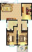 东方明珠3室2厅1卫121平方米户型图