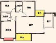 汉中恒大城3室2厅2卫125--130平方米户型图
