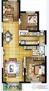 金地・翔悦天下3室2厅1卫98平方米户型图
