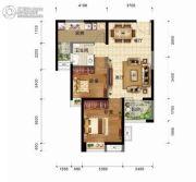奥山世纪城2室2厅1卫78平方米户型图