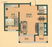 青年城邦1室1厅1卫0平方米户型图