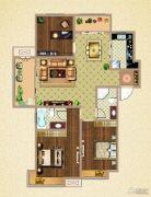荣盛鹭岛荣府3室2厅2卫118平方米户型图