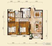 山水华庭3室2厅1卫92--93平方米户型图