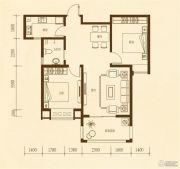 东方太阳城2室1厅1卫77平方米户型图