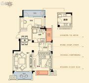 金轮星光名座生活广场2室2厅1卫86平方米户型图