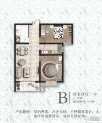 万浩俪城2室2厅1卫93平方米户型图