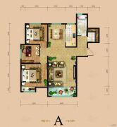 东岳国际3室3厅2卫138平方米户型图