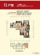福晟钱隆城4室2厅2卫119平方米户型图