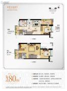 万科尚城3室2厅2卫80平方米户型图