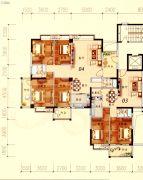 陶然家园4室2厅2卫156平方米户型图