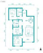 新河湾3室2厅1卫100平方米户型图