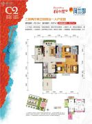 梧桐墅四期・荷兰郡3室2厅2卫110平方米户型图