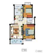 富源尚城2室2厅1卫85平方米户型图