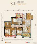 华润・中央公园4室2厅2卫108平方米户型图