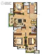 佳源都市3室1厅1卫0平方米户型图