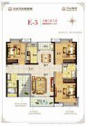 广州融创万达文化旅游城3室2厅2卫113平方米户型图