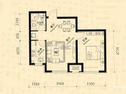 中东凯悦公馆1室2厅1卫58--63平方米户型图