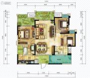 仟坤国际广场天悦3室2厅2卫112平方米户型图