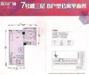 佛山富力广场0室0厅0卫60--61平方米户型图