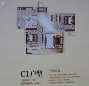 汇丰・海斯顿公园3室2厅1卫85平方米户型图