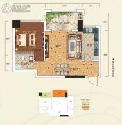 阳光新城1室2厅1卫56平方米户型图