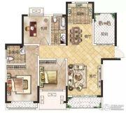 冠景瑞园3室2厅2卫111平方米户型图