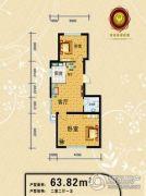 塞浦路斯庄园2室2厅1卫0平方米户型图