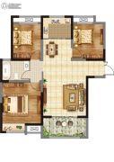 香榭里畔山兰溪3室2厅1卫114平方米户型图