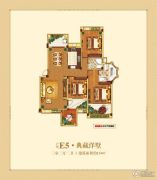 中大城3室2厅2卫134平方米户型图
