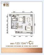 北辰・光谷里2室1厅1卫123平方米户型图
