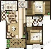 禹州御湖湾2室2厅1卫0平方米户型图