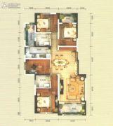 俊发・九夏云水4室2厅2卫125平方米户型图