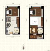 新都汇・二期32室2厅2卫62平方米户型图