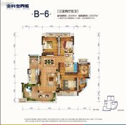 南川金科世界城3室2厅2卫119平方米户型图