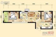元森北新时代2室2厅1卫61平方米户型图