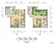 泾渭分明生态半岛4室2厅2卫142平方米户型图