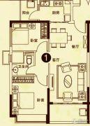 海南恒大御景湾2室2厅1卫82平方米户型图