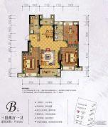 万科城・城果3室2厅1卫102平方米户型图