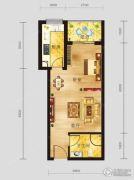 恩施国际商贸城1室1厅1卫47平方米户型图