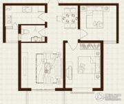 中山凯旋门2室2厅1卫91平方米户型图